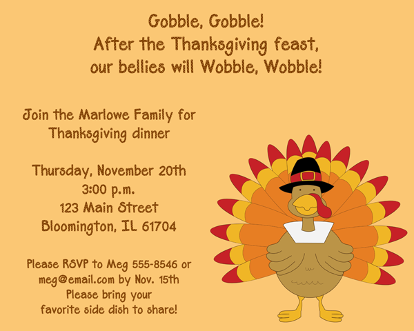 thanksgiving party invitation  u2013 party ideas