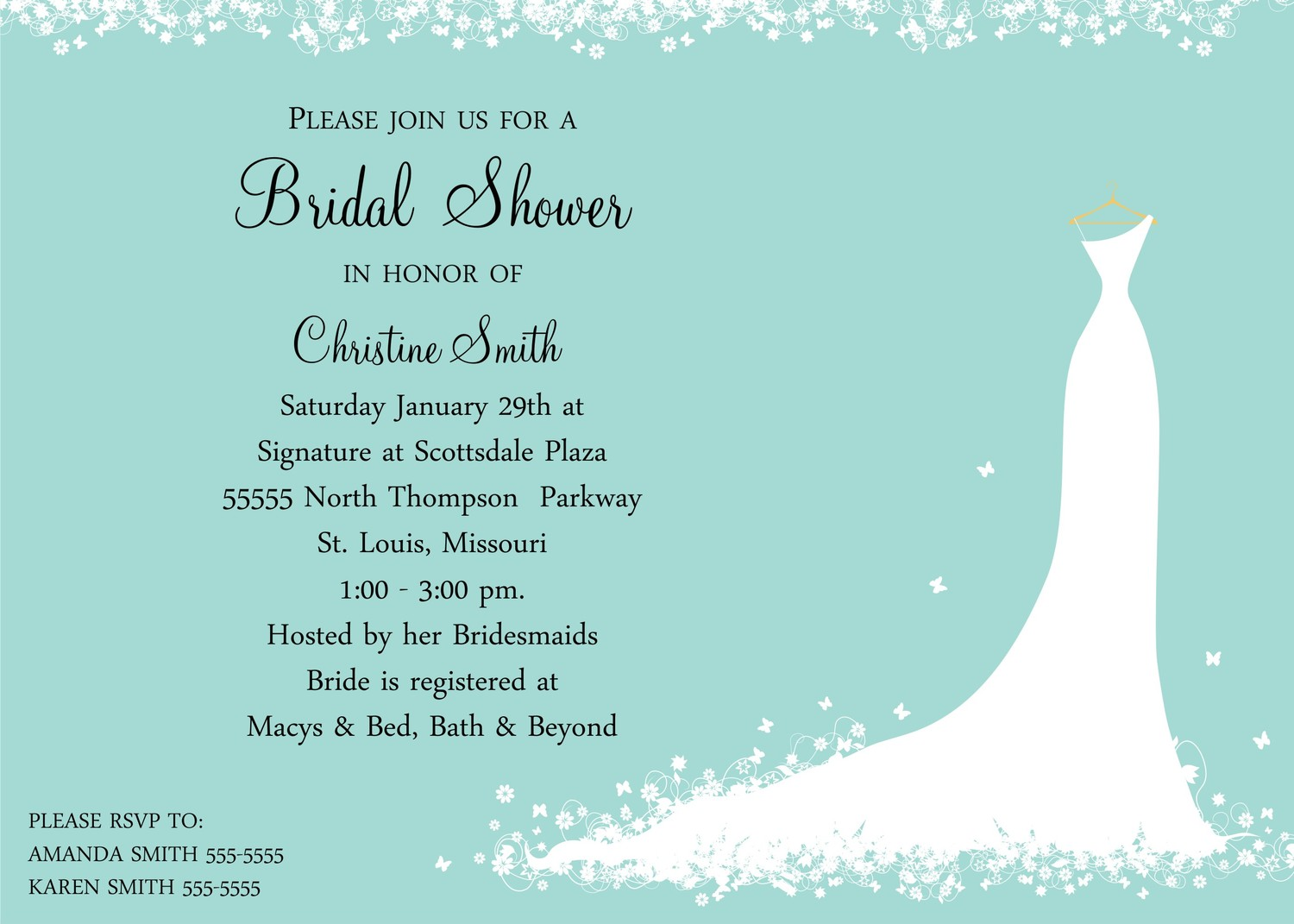Bridal Shower Invitations Bridal Shower Invitations Verses