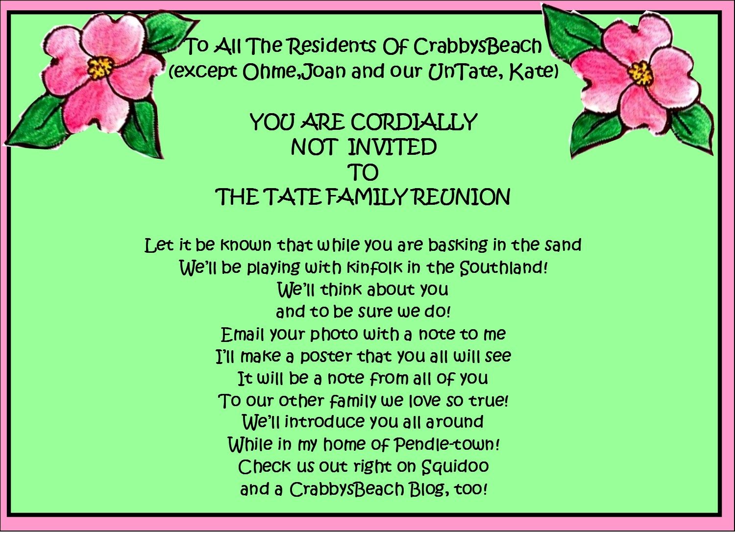 Family Reunion Invitation Template 155 Family Reunion Invitation Template  Family Reunion Flyer