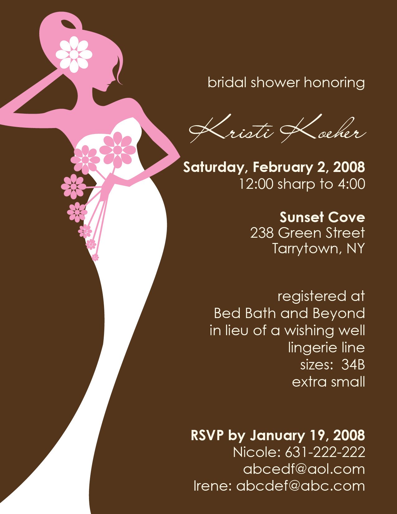 Bridal Shower Invitations Bridal Shower Invitation Ideas Free