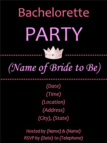 Bachelorette Party Invitations | Party Ideas
