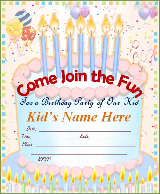 Birthday Party Invitations  Party Ideas