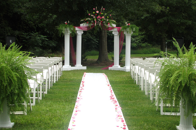 Outdoor wedding decoration ideas party ideas for Home wedding ideas