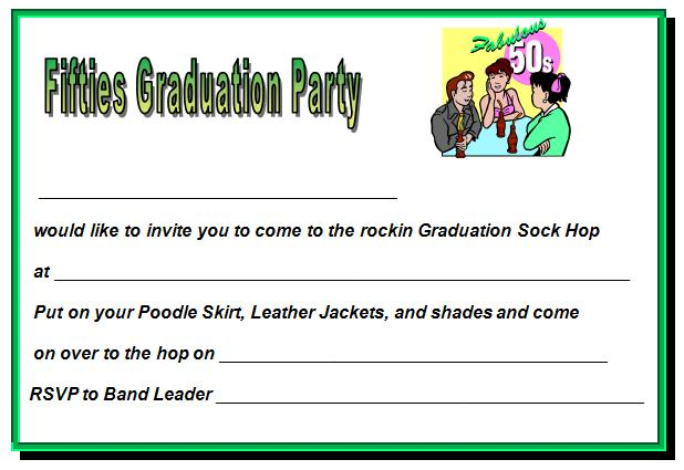 Graduation party invitations party ideas for Senior announcement templates free