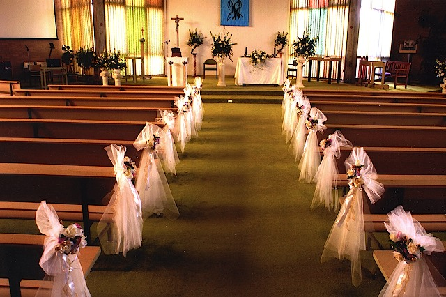wedding decoration ideas for church forever wedding church wedding decorations 9047