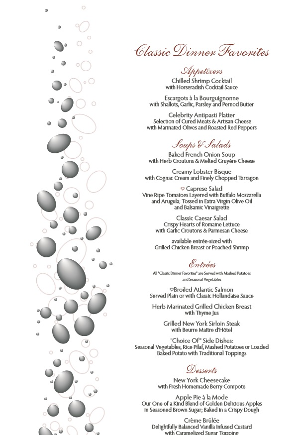Dinner Menu Template Free from www.partyideashub.com